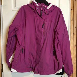 Dark pink Columbia Interchange Jacket XL
